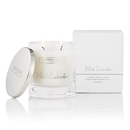 White Lavender Luxury Candle with Lid