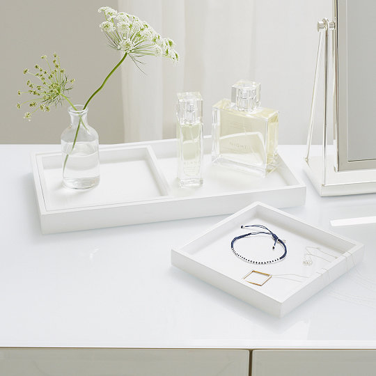 Lacquer Dressing Table Trays   Set Of 3