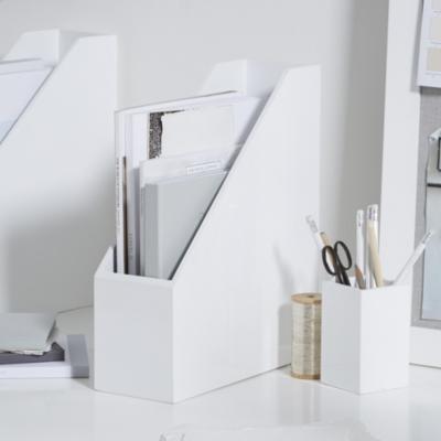 White Lacquer Magazine Rack