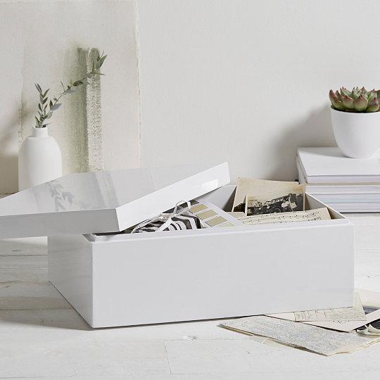 White Lacquer Storage Box & White Lacquer Storage Box | Decorative Accessories | The White ...