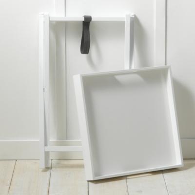 White Lacquer Butler's Tray