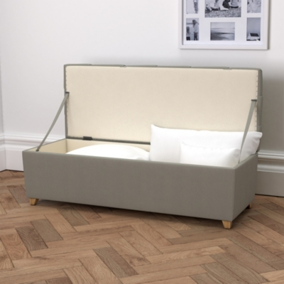 Langley Cotton Ottoman  - 3 Colours