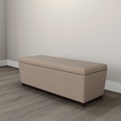 Langley Velvet Ottoman  - 2 Colours