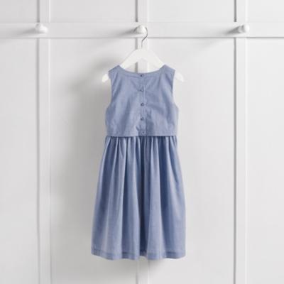 Layered Chambray Dress  (4-10yrs)