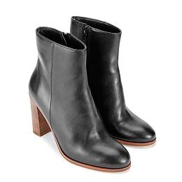 Leather Block Heel Boots