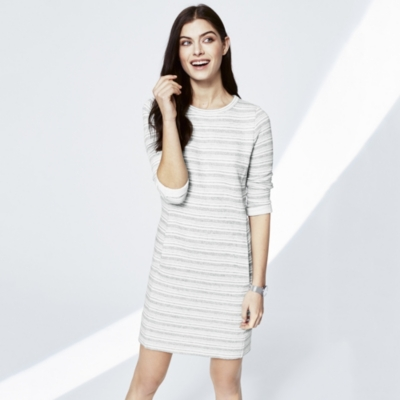 Loop Back Stripe Jersey Dress