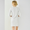 Loop Back Stripe Jersey Dress