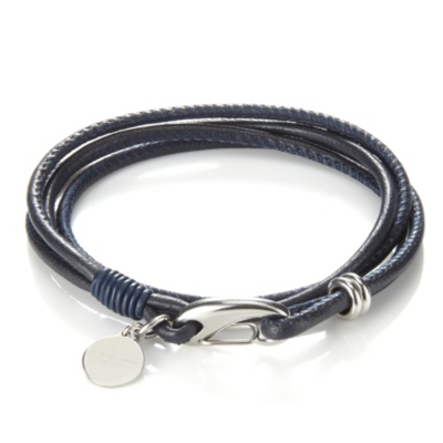 Leather Bracelets - Navy