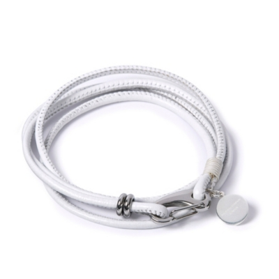 Leather Bracelets - White