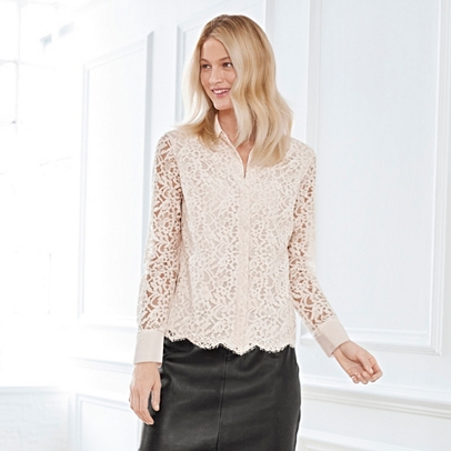 Lace Blouse | Partywear | Clothing | The White Company UK