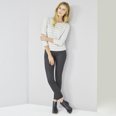 Loop Back Stripe Sweatshirt