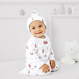 Baby Boys' London Bus Footed Sleepsuit