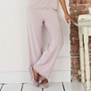 Lace Trim Pajama Pants  - Powder Pink
