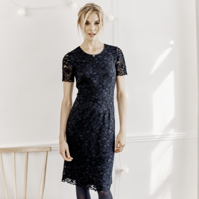 Lace Dress - Navy