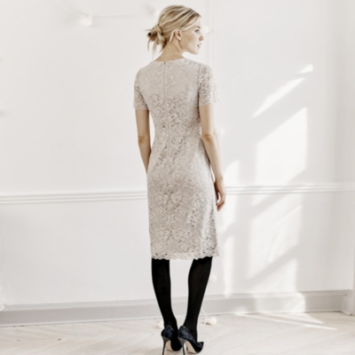 Lace Dress - Champagne