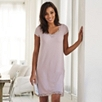 Lace Trim Nightgown - Powder Pink