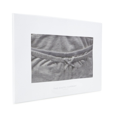 Lace Trim Cami & Brief Set - Cloud Marl