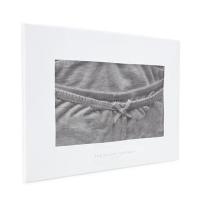 Lace Trim Cami and Brief Set - Cloud Marl