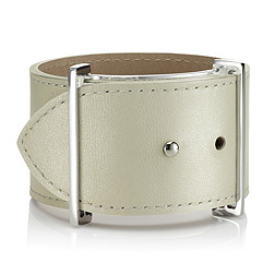 Leather Cuff - Porcelain