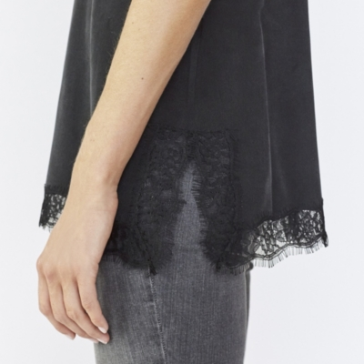 Lace Detail Silk Cami