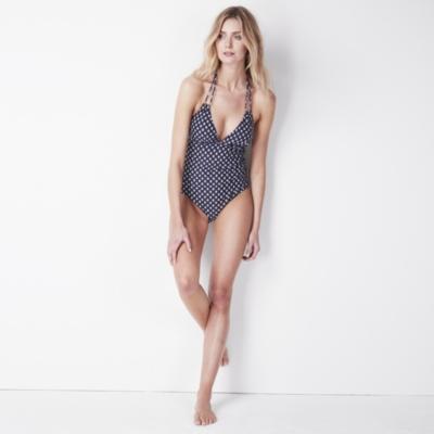 Loop Detail Print Swimsuit
