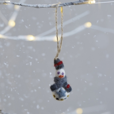 Mini Felt Snowman Decoration