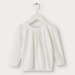 Pleat Neck T-Shirt