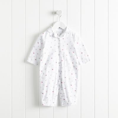 Lottie Floral Flannel Sleepsuit