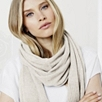 Large Cashmere Knitted Scarf