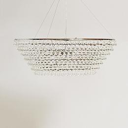 Glass Orb Chandelier Large Ceiling Light