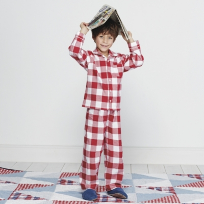Large Gingham Red Flannel Pyjamas (1-6yrs)