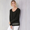 Mesh Hem Detail Sweater