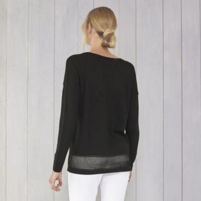 Mesh Hem Detail Sweater