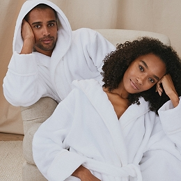 Unisex Hydrocotton Hooded Robe