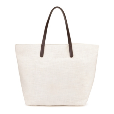 Leather Handle Shopper Bag