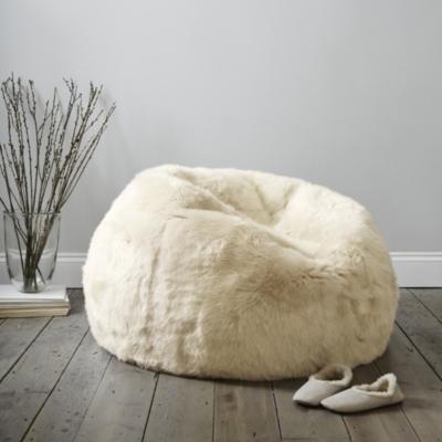 Long Haired Sheepskin Small Beanbag