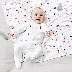 Baby Boys' London Blanket & Hat Set