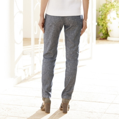 Linen Boyfriend Pants