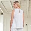 Linen Sleeveless V-Neck Top
