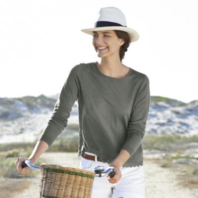 Linen Lace Trim Sweater