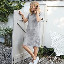 Linen Swing Dress