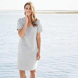 Linen Stripe Pocket Dress