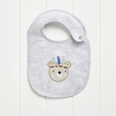 Little Warrior Bear Jersey Bib
