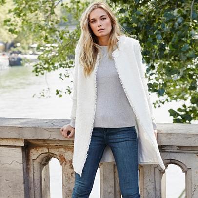Longline Linton Tweed Jacket | Coats &amp Jackets | Clothing | The