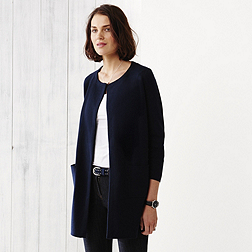 Long Milano Cardigan - Navy