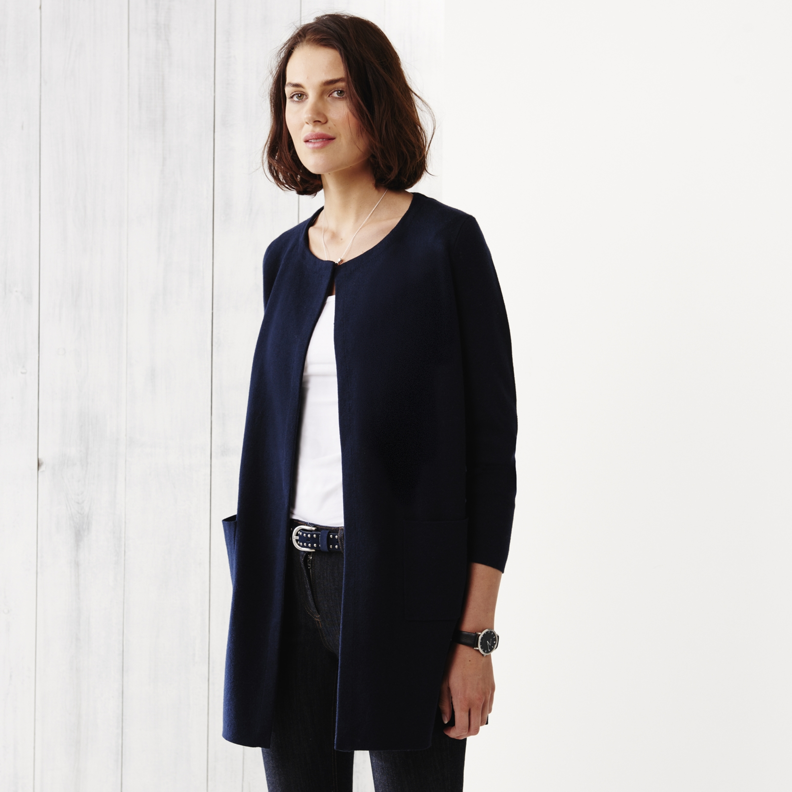Long Milano Cardigan | Clothing | The White Company US