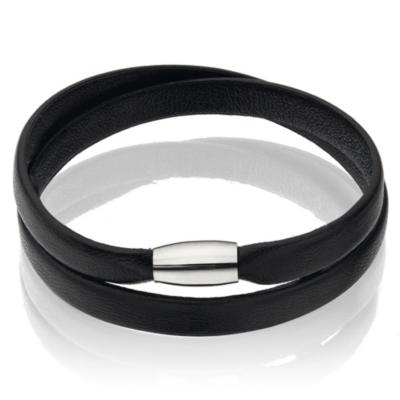 Leather Magnetic Bracelets - Black