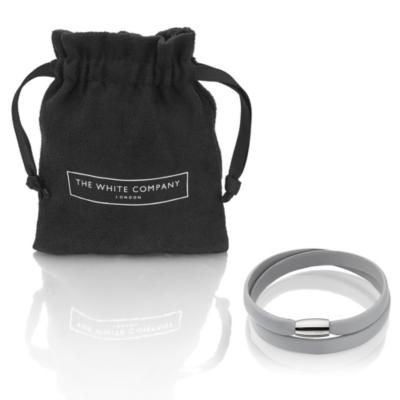 Leather Magnetic Bracelets - Frost Grey