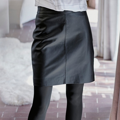 Leather Skirt | Clothing | Sale | The White Company UK