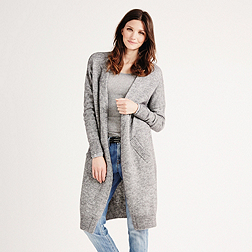 Long Cardigan - Grey Marl
